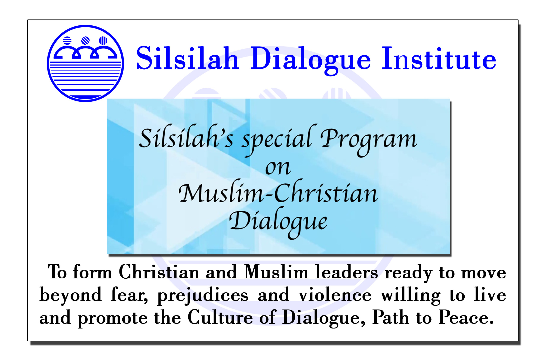 Silsilah's special Program